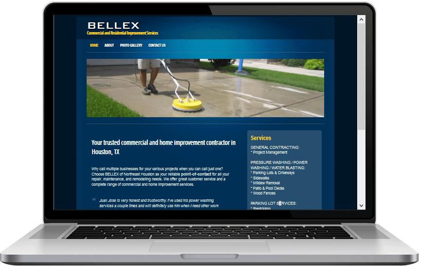 Image of BELLEX Services Website