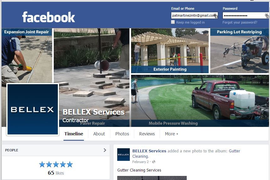 Image of Bellex Services Facebook Page